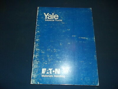 Yale Ml Mp 4000 To 10000 Lb Forklift Lift Truck Operation & Maintnenance Manual