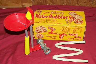 Old Water Bubbler Vintage Kids Toy Art Linkletter Drinking Fountain Hose Summer