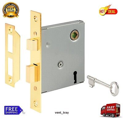 E 2294 Vintage Style Mortise Lock Assembly 5-1/2 in Face Door Hardware Locks New