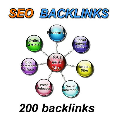links SEO Backlinks creation 200 links web positioning in Google