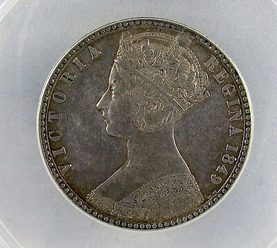 Great Britain 1849 Florin With Ww, Anacs Au50 Details