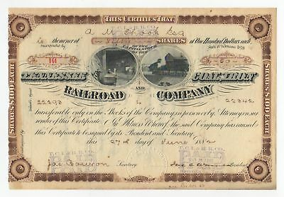 1882 Tennessee Coal, Iron and Railroad Company Stock Certificate