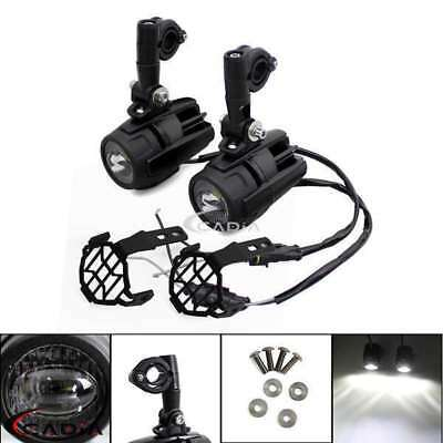Motorcycle LED Auxiliary Spot Fog Light Lamp Protect Guard Cover For BMW F800GS