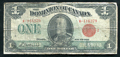 DC-25g 1923 $1 ONE DOLLAR DOMINION OF CANADA BANKNOTE