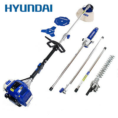 Hyundai 50.8cc Petrol Multi Tool Chainsaw Brushcutter Grass Trimmer 5in1 Garden
