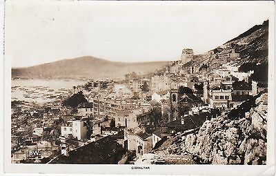 General View Over Town, GIBRALTAR, Postally Used 1935 RP
