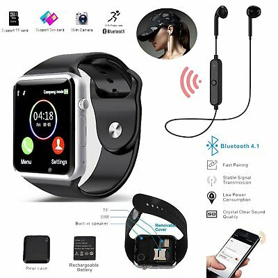 Android IOS Smart Watch with Sim Card Camera Phone Bluetooth Wrist Watch Headset