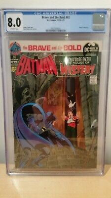 Brave and Bold #93 CGC 8.0  New case  Neal Adams classic .House of Mystery