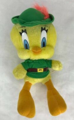 Tweety plush bird Robin Hood 1997 Looney Tunes Warner Bros