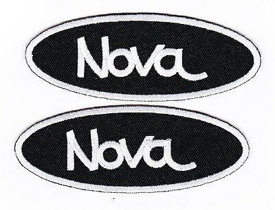 2 Chevy Nova Sew/iron On Patch Emblem Badge Embroidered