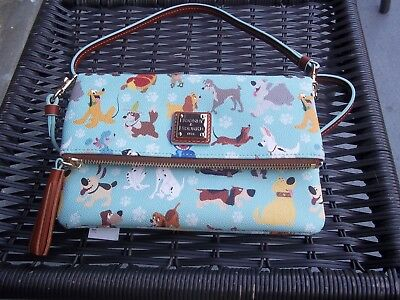 Disney Dooney & Bourke Dogs Foldover Zippered Crossbody Handbag-NWT