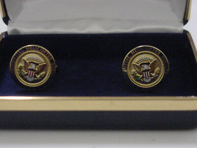 Pair of new Presidentail GEORGE W BUSH Helicopter Squadron cufflinks    HMX-1