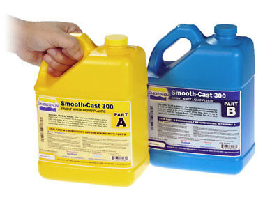 Polyurethane Casting Resin Smooth On Smooth-Cast 300 1 Gallon Kit 6.99kg/15.4lbs