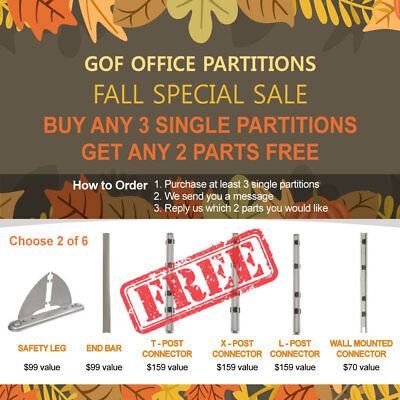 [Fall Special Sale] GOF Office Partition,Room Divider, Cubicle & All Connectors