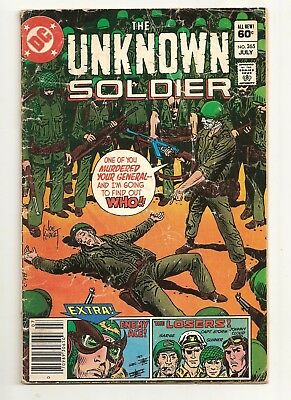 Unknown Soldier  #265 DC Comics 1982 VG Enemy Ace Losers