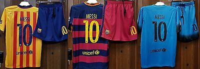 Barcelona FC-Lionel Messi.*No Name* -Adults/Kids-Home/Away/Third Jersey + shorts