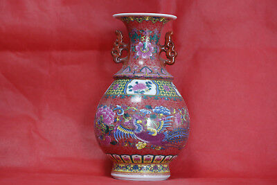 Exquisite Chinese vase with colorful porcelain vases  A2