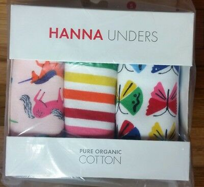 Nwt Hanna Andersson Organic Training Unders Unicorn Rainbow S 100 110 3T 4 5