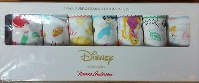 NWT Hanna Andersson 7 Pack Hipster Unders DISNEY PRINCESSES  M 120 130  6 7 8