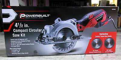 "Powerbuilt 4 1/2"" Compact Circular Saw with 5.8 Amp Motor NEW"