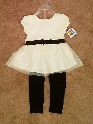 BRAND NEW 24 Month Healthtex Baby Toddler Girl Chiffon Tunic Leggings Outfit