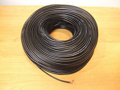 1000' Mini Coax Cable Coaxial Copper Wire Camera Video Miniature Black Thin RG