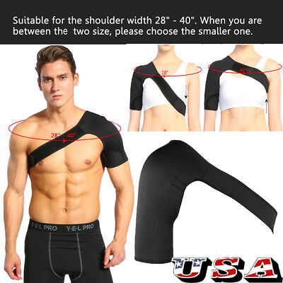Adjustable Shoulder Support Brace Strap Sport Gym Compression Women&Men Black US