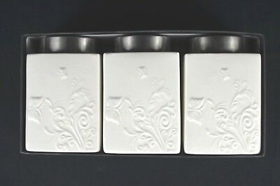 Floral Pattern Porcelain Canister Set, Set of 3