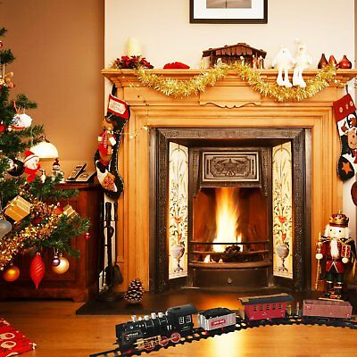 Christmas Electric Toy Train Set Classic Locomotive Model Train Sets Kids Gift