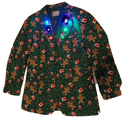 NEW! HOLIDAY BLAZER for Ugly Christmas Sweater Party (Choose Size) - Lights up!