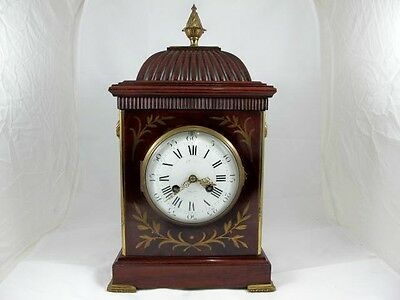 Mahogany Cased Clock By J W Benson, Ludgate Hill London C 1870'S
