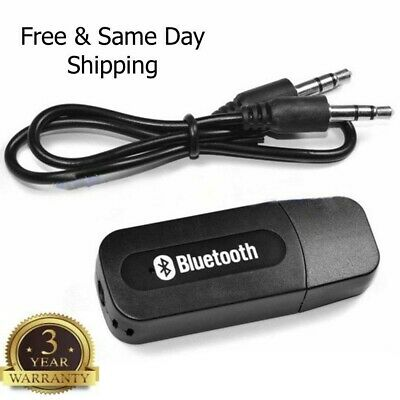 USB Bluetooth Music Stereo Wireless Audio Receiver Adapter for Home Car Speaker