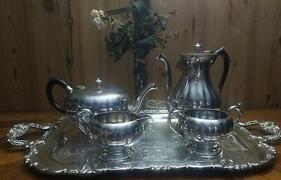 Antique Victorian Plate Silver Plated #398 E.p B.m Tea Set