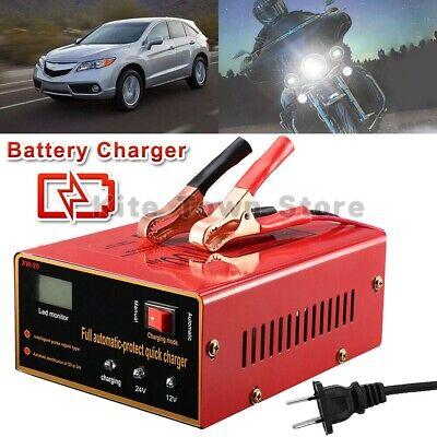 New 12V/24V 10A 140W Car Motorcycle Lead Acid Battery Charger Full Automatically