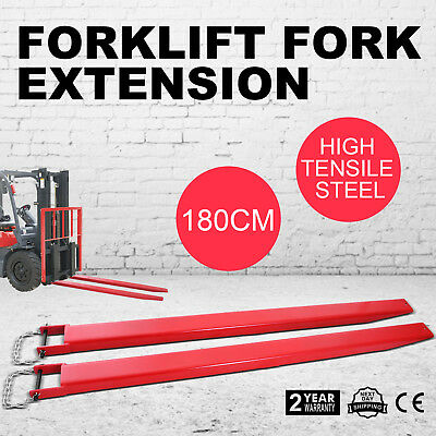 "75""x4"" Forklift Pallet Fork Extensions Pair Lift Truck Fit 4"" Width Slide Clamp"