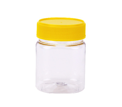 Plastic Honey Jar 250gm Square Yellow Lid 240 pcs Food Grade Containers