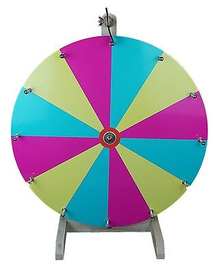 """20"""" Woodwell® Tabletop Color Dry Erase Fortune Prize Wheel 12 Slots"""