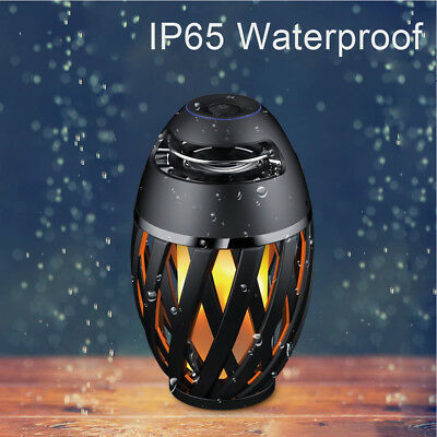 Portable LED Flame Light Waterproof Wireless Bluetooth Speaker For Smartphone