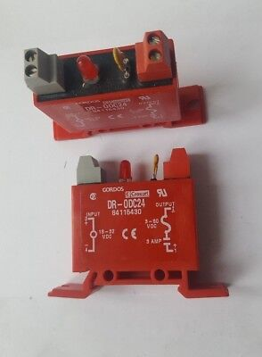 Lot Of 2 Pcs Gordos Dr-0Dc24 Solid State Relay Module (R6S5.6B1)