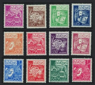 Algeria Agriculture Science Labour Definitives 12v SG#423-434
