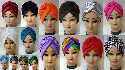 Turban Indian Style Wrap Fashion Head Cover Stretch Headband Chemo Aleopica x 1