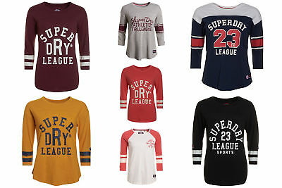 New Womens Superdry Factory Second Tops Selection 1 Various Styles & Colours 281