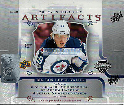 2017-18 Upper Deck Artifacts Nhl Ice Hockey Factory Sealed Hobby Box New Express