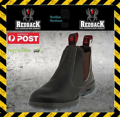 Redback 'usbok' Steel Toe Cap Elastic Sided Brown Safety/work Boots
