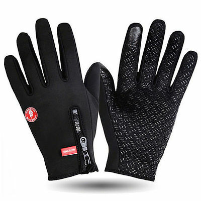Wasserdicht Thermo Winter Handschuhe Finger Touch klappbar Sport Warm Glove
