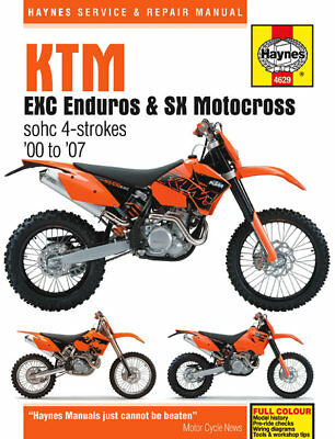 4629 Haynes KTM EXC Enduro & SX Motocross (2000 - 2007) Workshop Manual