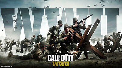 Call Of Duty WW2  Poster - Wall Art - 4 sizes to choose from!