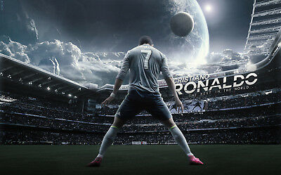 Footballer Cristiano Ronaldo  Poster - Wall Art - 4 sizes to choose from!