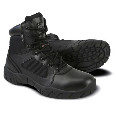 Military Army Half Leather 6 Inch Tactical Pro Boot Combat Patrol Black