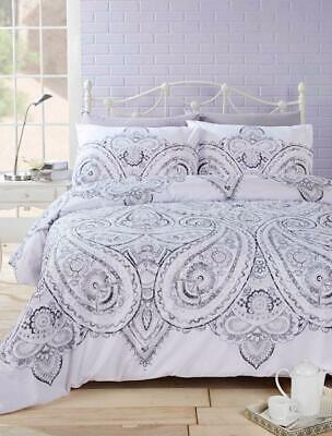 Paisley Quilt Duvet Cover & Pillowcase Bedding Bed Set Colourful Floral Stylish